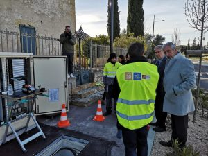 Vergèze - 03/03/20 visite du chantier Wigard Fibre par Denis Bouad